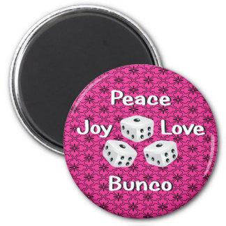 peace,joy,love,bunco refrigerator magnets