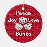 peace,joy,love,bunco ornaments