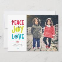 Peace Joy Love Christmas Holiday Flat Card