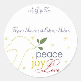 Peace, Joy, Love Gift Tags