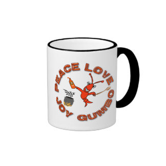 Peace, Joy,Love,Gumbo! Ringer Coffee Mug