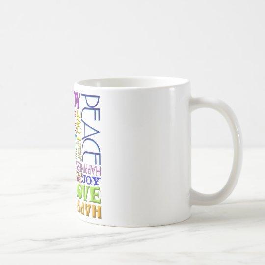 Peace Joy Love Happiness Coffee Mug