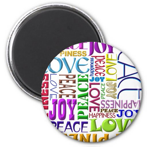 Peace Joy Love Happiness Refrigerator Magnets