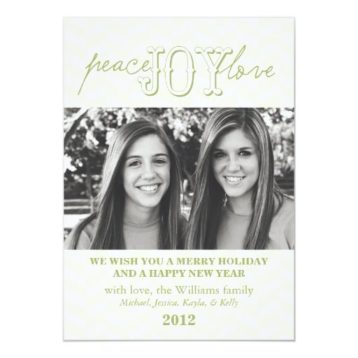 Peace Joy Love | Holiday Card