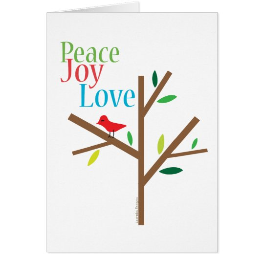 Peace Joy Love Holiday Cards