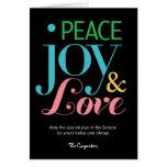 Peace Joy & Love Holiday Greeting Card