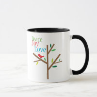 Peace Joy Love Holiday Mug