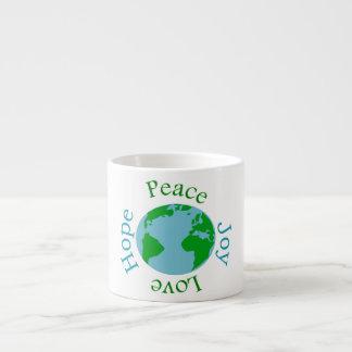 Peace Joy Love Hope Espresso Cup