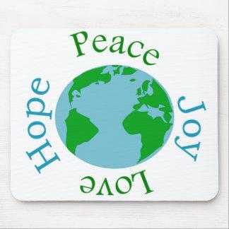 Peace Joy Love Hope Mouse Pad
