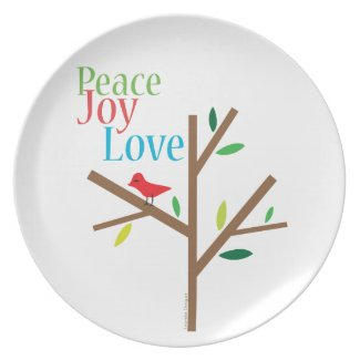 Peace Joy Love Hope Party Plate