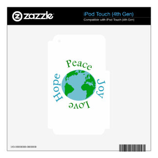 Peace Joy Love Hope iPod Touch 4G Skins
