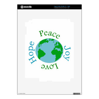 Peace Joy Love Hope Skin For iPad 2
