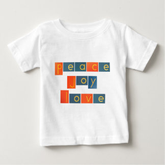 PEACE JOY LOVE Sandpaper Letters Baby T-Shirt