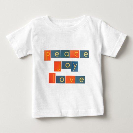 PEACE JOY LOVE Sandpaper Letters Baby T-Shirt