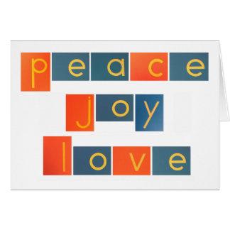 PEACE JOY LOVE Sandpaper Letters Cards