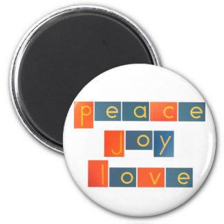PEACE JOY LOVE Sandpaper Letters Magnet