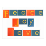 PEACE JOY LOVE Sandpaper Letters Postcard