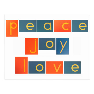 PEACE JOY LOVE Sandpaper Letters Postcard