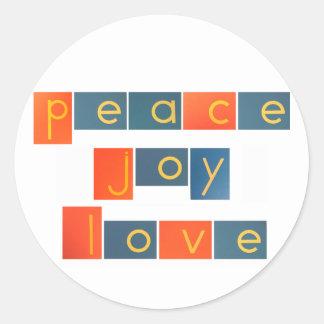 PEACE JOY LOVE Sandpaper Letters Sticker
