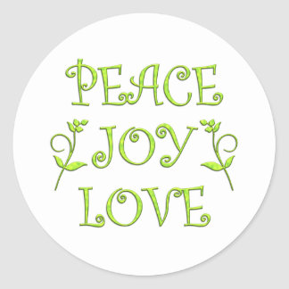Peace Joy Love Sticker