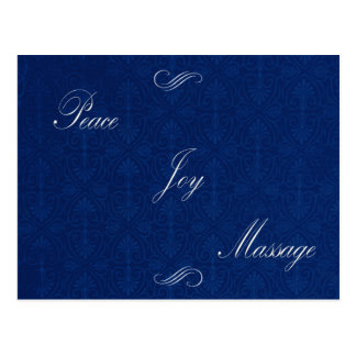 Peace Joy Massage Postcard