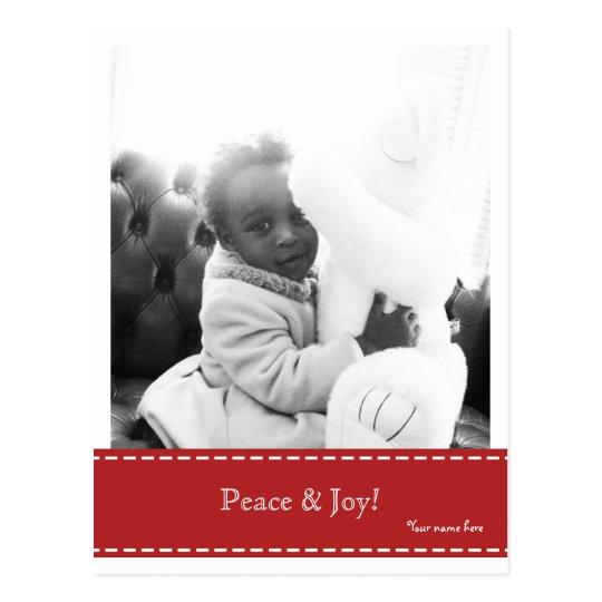 Peace & Joy Photo Postcard