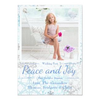 Peace & Joy Snowflakes 1 Photo - Christmas Card