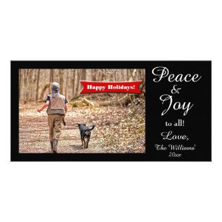 Peace & Joy to all! Fun Holiday Photo Card Template