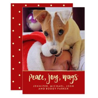 Peace Joy Wags | Your Dog's Christmas Photo Card