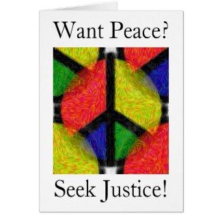 PEACE & JUSTICE zazzle_card