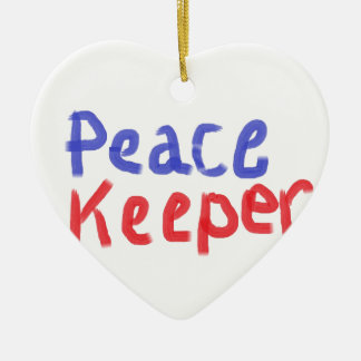 Peace keeper merchandise ceramic ornament