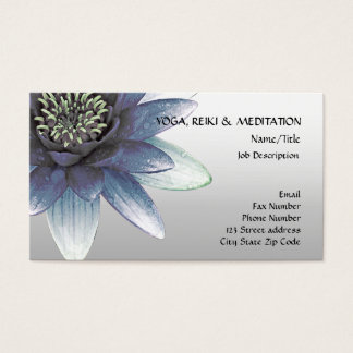 Lotus flower business cards flowers healthy peace l beautiful blue lotus flower business card colourmoves