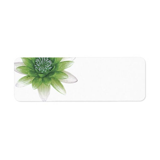 Peace l Beautiful Green Lotus Blank Labels Return Address Labels