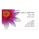 Peace l Beautiful Pink Lotus Flower/Water Lily Business Card Template