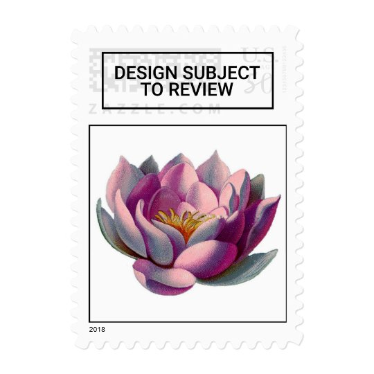 Peace L Beautiful Pink Lotus Flowerwater Lily Postage Zazzle