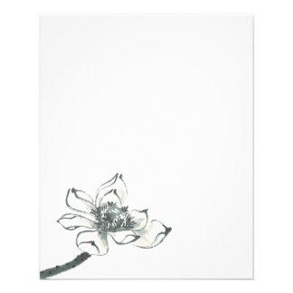 Peace l Beautiful Watercolor Lotus Flyer