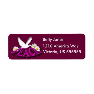 Peace Return Address Label