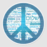 Peace Language Classic Round Sticker