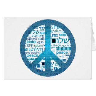 Peace Language Greeting Card