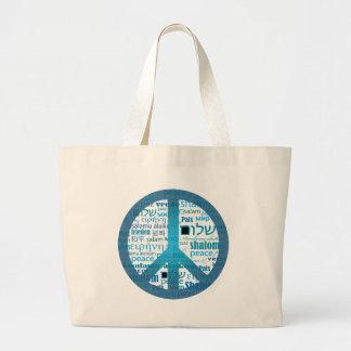 Peace Language Large Tote Bag