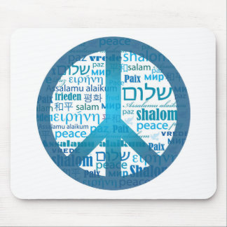 Peace Language Mouse Pads