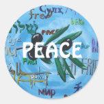 """""""Peace Language"""" - PEACE Fine Art Stickers"""