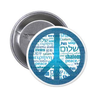 Peace Language Pinback Button
