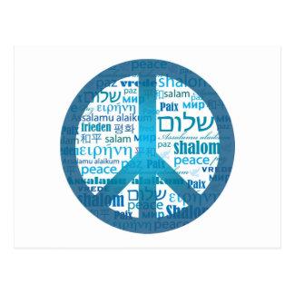 Peace Language Post Card