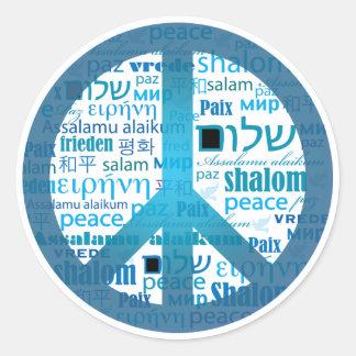 Peace Language Sticker