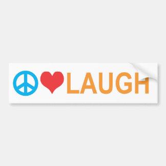 Peace/Laugh Bumper Sticker