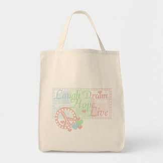 Peace Laugh Dream Love Hope Tshirts and Gifts Canvas Bags