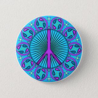 Peace ~ Leaf Pinback Button