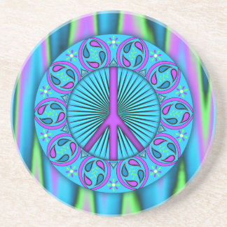 Peace ~ Leaf Sandstone Coaster