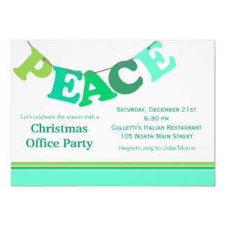 Peace Letter Banner 5x7 Paper Invitation Card